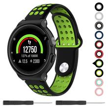 For Garmin Forerunner 235 Band,Soft Silicone Replacement Band for Garmin Forerunner 220/230 / 235/620 / 630 / 735XT Watch цены