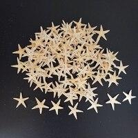 Sea shells size:1.8-3cm 100pcs Mini Starfish Craft Decoration Natural Sea Stars DIY Beach Cottage Wedding Decor crafts wedding