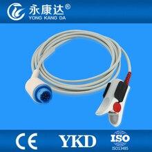 Mindray PM6000 reutilizável spo2 sensor de dedo adulto clipe, módulo Masimo, 12pin/3 m