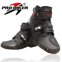Motorrad Stiefel PRO-BIKER Hohe Ankle Racing stiefel BIKER leder rennen Motocross Motorrad reitstiefel Schuhe für frauen männer schuh