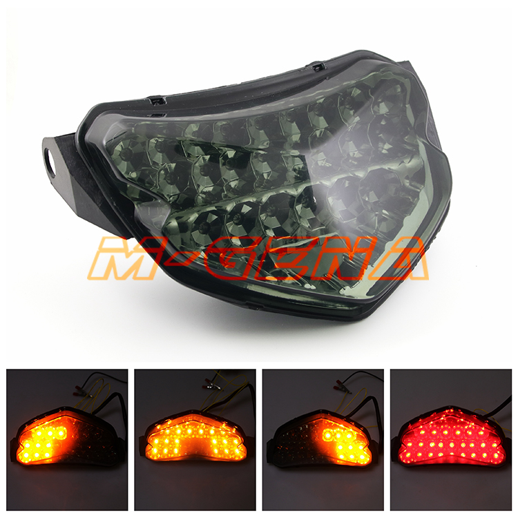 Motorcycle LED Rear Turn Signal Tail Stop <font><b>Light</b></font> Lamp Integrated For GSXR600 GSXR750 <font><b>GSXR</b></font> <font><b>600</b></font> 750 K4 2004 2005 04 05 image
