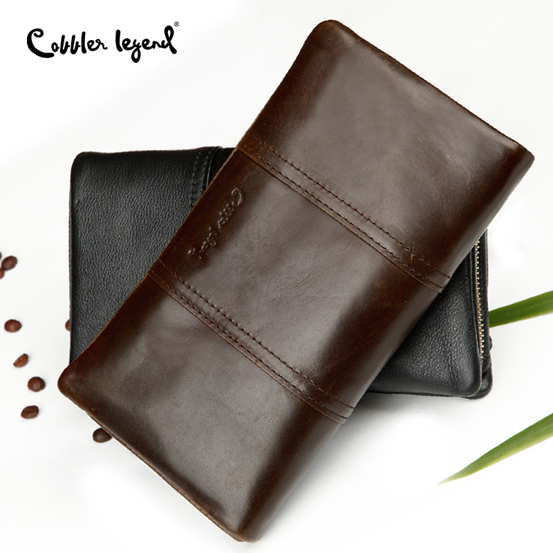 Cobbler Legend Long Wallets Zipper Coin Purse for Men Men's Wallets