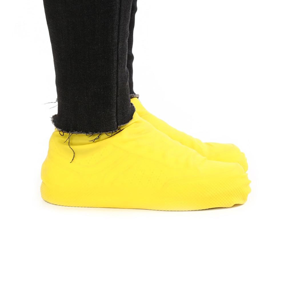 1 Pair Reusable Latex Waterproof Rain Shoes Covers Slip-resistant Rubber Rain Boot Overshoes S/M/L Shoes Accessories 2