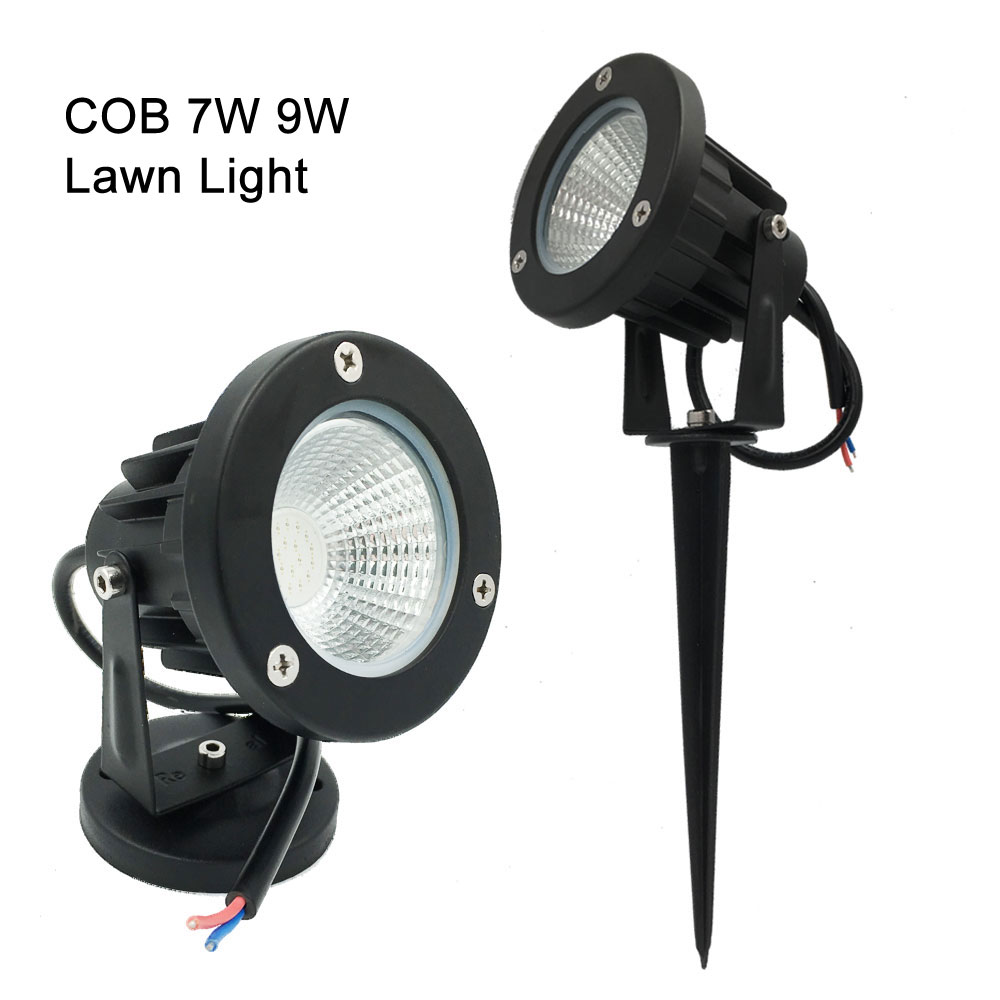 Warm White COB 3W 5W 7W 9W LED Lawn Lamp DC12V 24V Yard Light Outdoor Path Lights IP65 Spot Light For Garden Decoration