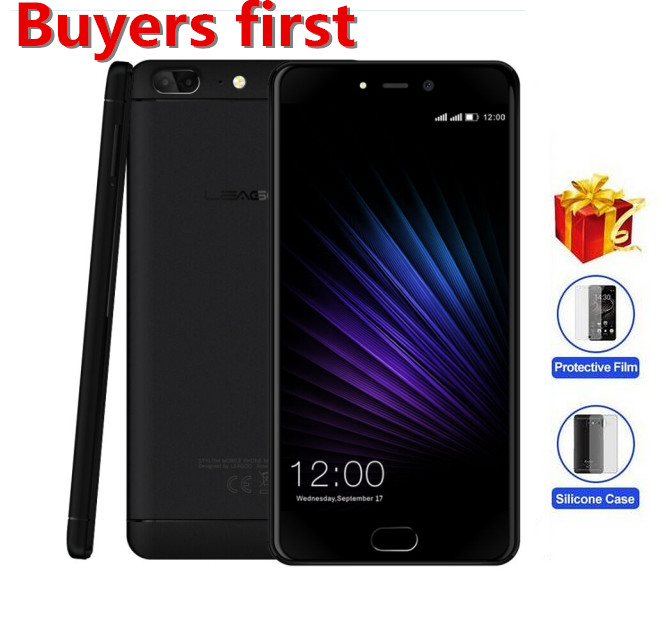 "Original Leagoo T5 Mobile Phone MTK6750T Octa-core 1920*1080 5.5"" FHD 4GB RAM 64GB ROM Android 7.0 13MP Fingerprint Smartphone"