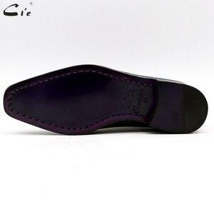 Image 5 - Cie bout carré uni coupe entière patine paon pleine fleur véritable cuir de veau oxford hommes chaussure en cuir sur mesure hommes chaussure ox15