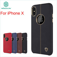 NILLKIN Cover For IPhone X Case High Quality PU Leather Back Cover For IPhone X Cover