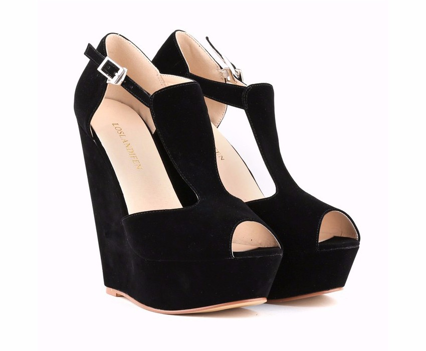 LOSLANDIFEN Fashion Summer Sandals Women Platform Shoes Wedges Pumps High Heel Party Wedding Shoes Office Pumps 391-1VE