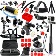 цена на SnowHu for Gopro Accessories set for go pro Accessories for gopro hero 5 4 3 kit for SJCAM SJ4000  xiaomi yi 4k camera eken GS28