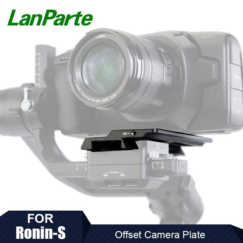 Lanparte Ronin S Offset Camera Base Bottom Plate for BMPCC 4K Blackmagic for DJI Ronin S