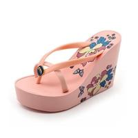 2017 New Arrival Women Shoes Super High Heel Wedges Platform Flip Flops Women Women Summer Sandals