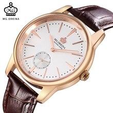 MG. ORKINA Watch Men Quartz-Watch Luxury Brand Leather Belt Men's Watch Clock Male Waterproof Relogios Masculinos Montre Homme