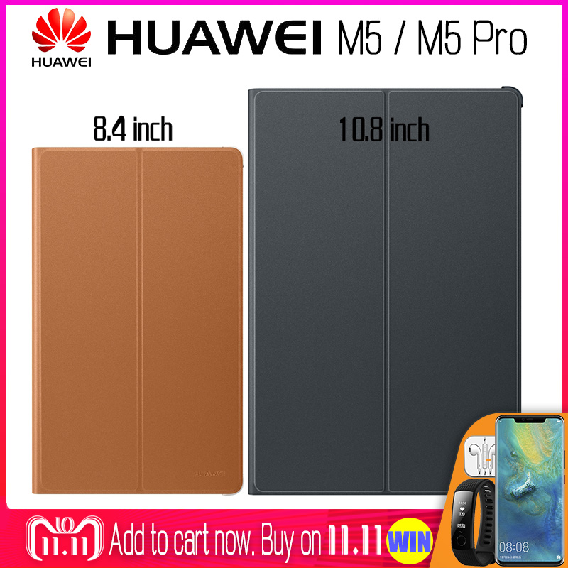 HUAWEI M5 Pro Case Official Original Smart View HUAWEI Mediapad M5 Cover Kickstand Flip Leather M5 Case Tablet Cover 8.4 10.8 silicone with bracket flat case for huawei mediapad m5 8 4 inch
