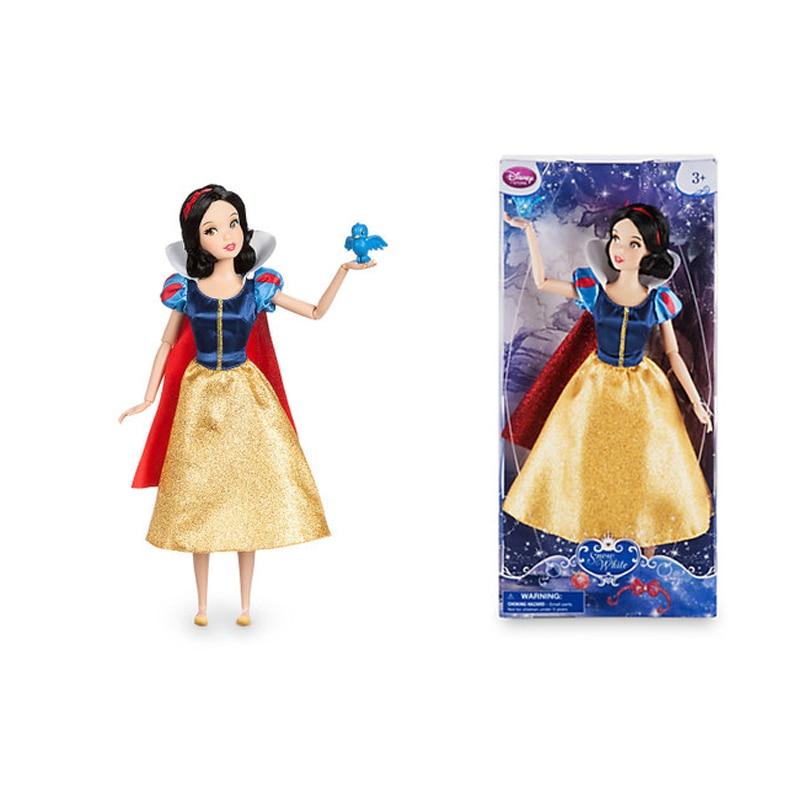 лучшая цена NEW cute Snow White Classic princess pet Bird with gorgeous doll action figure model dolls birthday gift toys for children