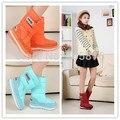 Resistente al agua antideslizante bereber de lana zapatos de la nieve térmica botas de nieve botas de mujer de diseño de los amantes