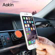 Aokin Magnetic Car Phone Stands for Smartphones & Mini Tablets Universal Air Vent Car Mount Stand For iPhone 6 6s Galaxy S8(China)