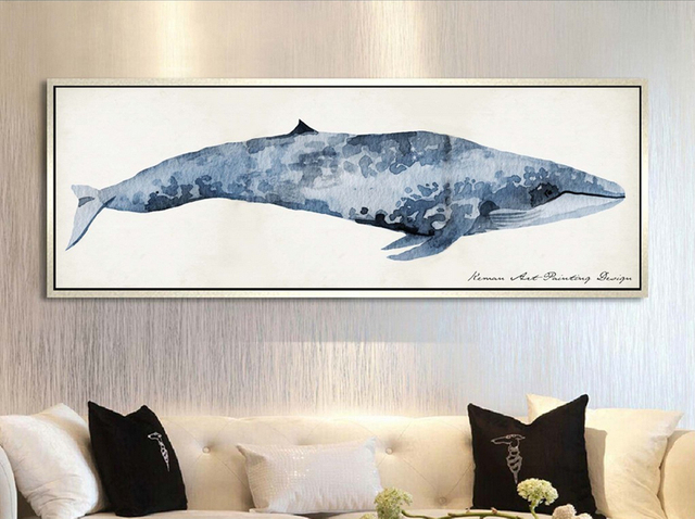 Charming Nordic Canvas Wall Art Modern Minimalist Shark Canvas Printings Poster Wall  Pictrues For Living Room Bedroom