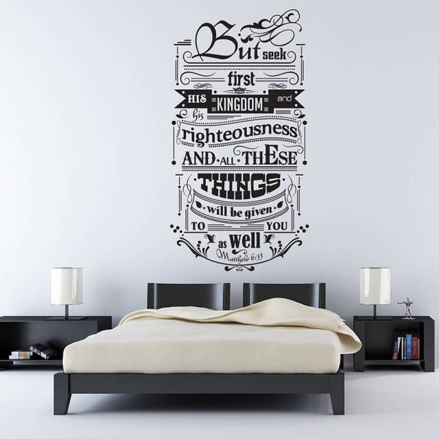 Inspirational Quotes Wall Decals Contemporary Design Wall Sticker