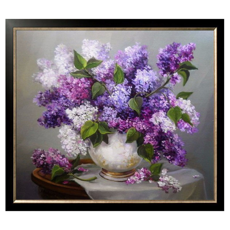 Needlework DIY DMC 14CT unprinted Cross stitch kits For Embroidery Floral Home Decor Handicrafts Series