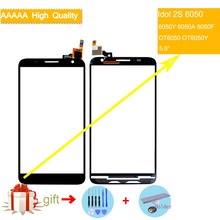 цены For Alcatel One Touch Idol 2S OT6050 6050 6050Y 6050A 6050F Touch Screen Touch Panel Sensor Digitizer Front Glass Touchscreen