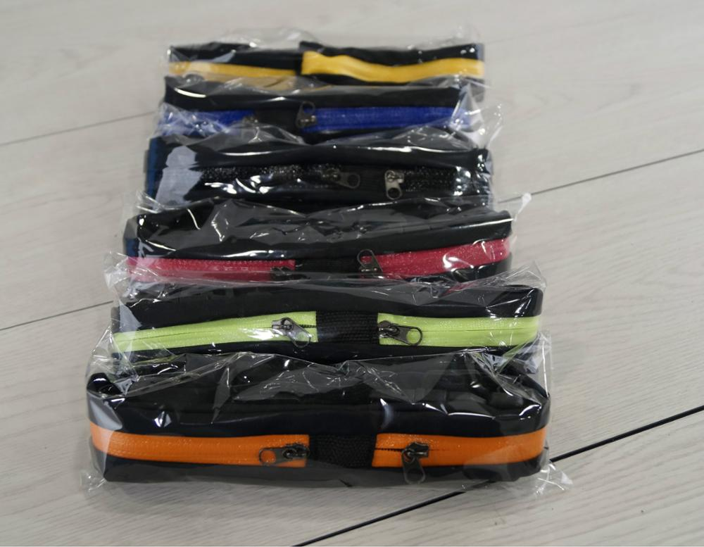 Whole sale 200pcs Waist Bags Cycling Bags with 2 Pockets 5inch Sports Bags