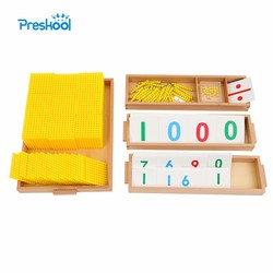 Juego de Banco de bebé de juguete Montessori para niños, juego de matemáticas, entrenamiento para aprendizaje de la primera infancia, juegos educativos para niños
