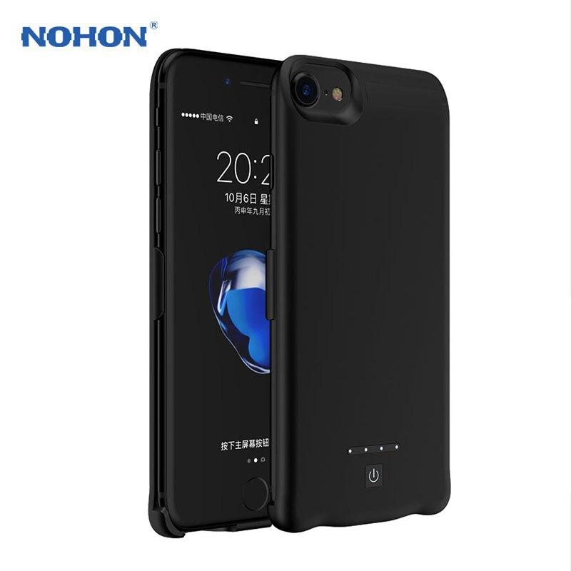 imágenes para NUEVA NOHON Cargador de Batería de Reserva Portable Para el iphone 7 6 S 6 Plus Cubierta de la Caja Externa Recargable 8000 mAh de Carga rápida