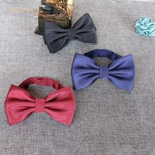 Men's and women's British style fashion striped bow tie Solid color formal occasion wedding overalls business banquet bow
