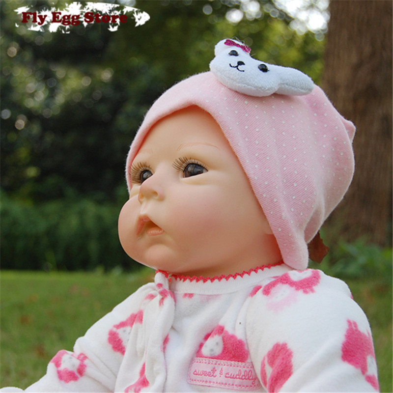 ФОТО Hot 55cm 22'' Reborn baby Cotton body New born doll girl Lifelike kid Pretend Play toy without hair silicone reborn baby doll