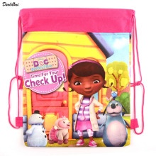1 pic Doc Mcstuffins, toy Physicians children school bags cute cartoon drawstring backpack & bag Children Backpacks pressure