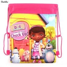 1 pic Doc Mcstuffins, toy Physicians children school bags cute cartoon drawstring backpack & bag Children Backpacks pressure