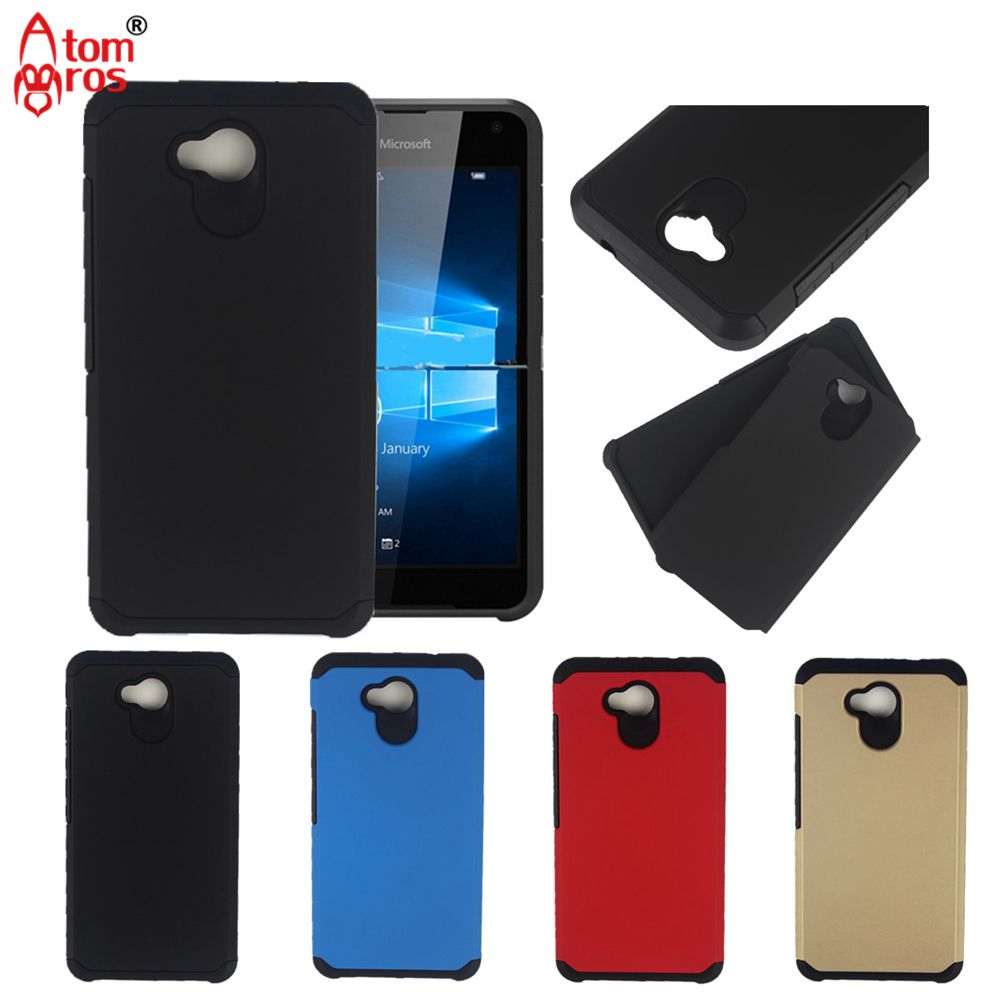For Microsoft Nokia Lumia 550 435 730 830 640 650 950 XL Case Slim Hybrid Rubber Shockproof Armor Combo Hard Phone Cases Cover