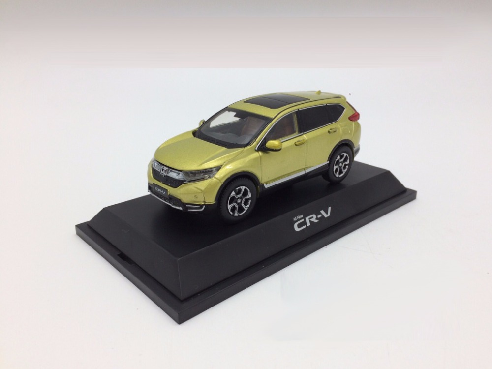 1:43 Diecast Model For Honda CR-V 2017 Green SUV Alloy Toy Car Miniature Collection Gifts CRV CR V