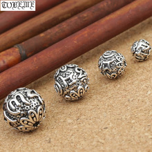 Handmade 925 silver om beads jewelry findings tibetan om mani padme hum words beads om mantra beads tibetan jewelry beads 100% 925 silver tibetan om mani padme hum bracelet thai silver buddhist om mantra bracelet pure silver tibetan bracelet