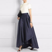 f59d9d7f93 Women Skirt Long Shiny Satin Saia Longa A Line Skirts Faldas Custom Made  Maxi Skirt Fashionable