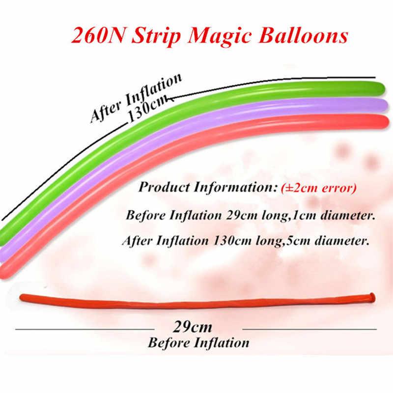 5 шт. 1,8 г 30 см длинные латексные воздушные шары 260 полосы волшебной формы воздушный шар Детский день мультфильм игрушки для вечеринки в честь Дня Рождения украшения Детские шары
