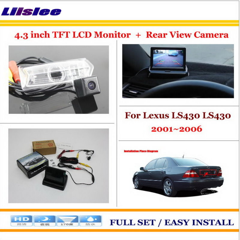 Liislee For Lexus LS430 LS430 (UCF30) 2001~2006 Back UP Reverse Camera + 4.3 LCD Monitor = 2 in 1 Rearview Parking System