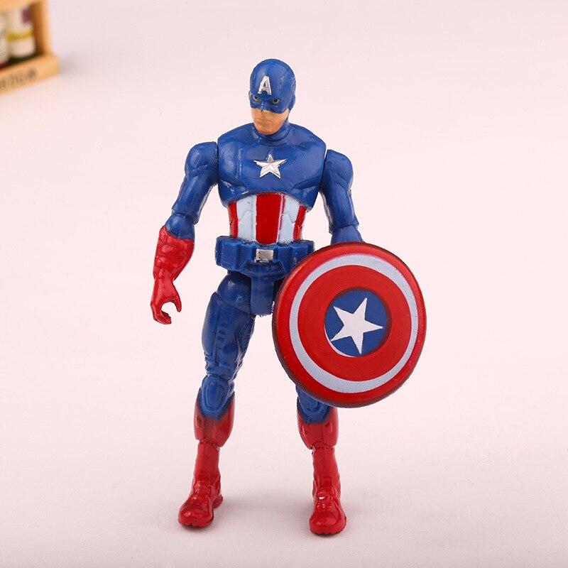 6pieces Super Hero Toy Doll Baby The Avengers Figures Hulk Capitán - Figuritas de juguete - foto 4