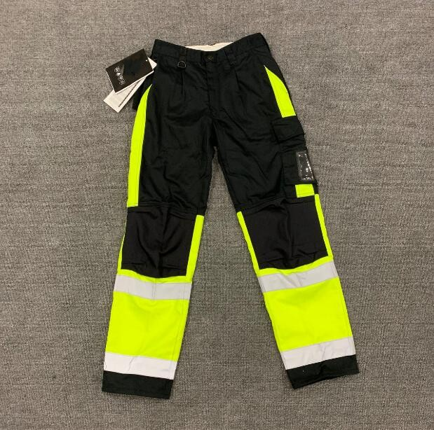 Mens WORK CARGO PANTS TROUSERS,KNEE POCKETS,Cotton Drill,3M REFLECTIVE,TRADIE