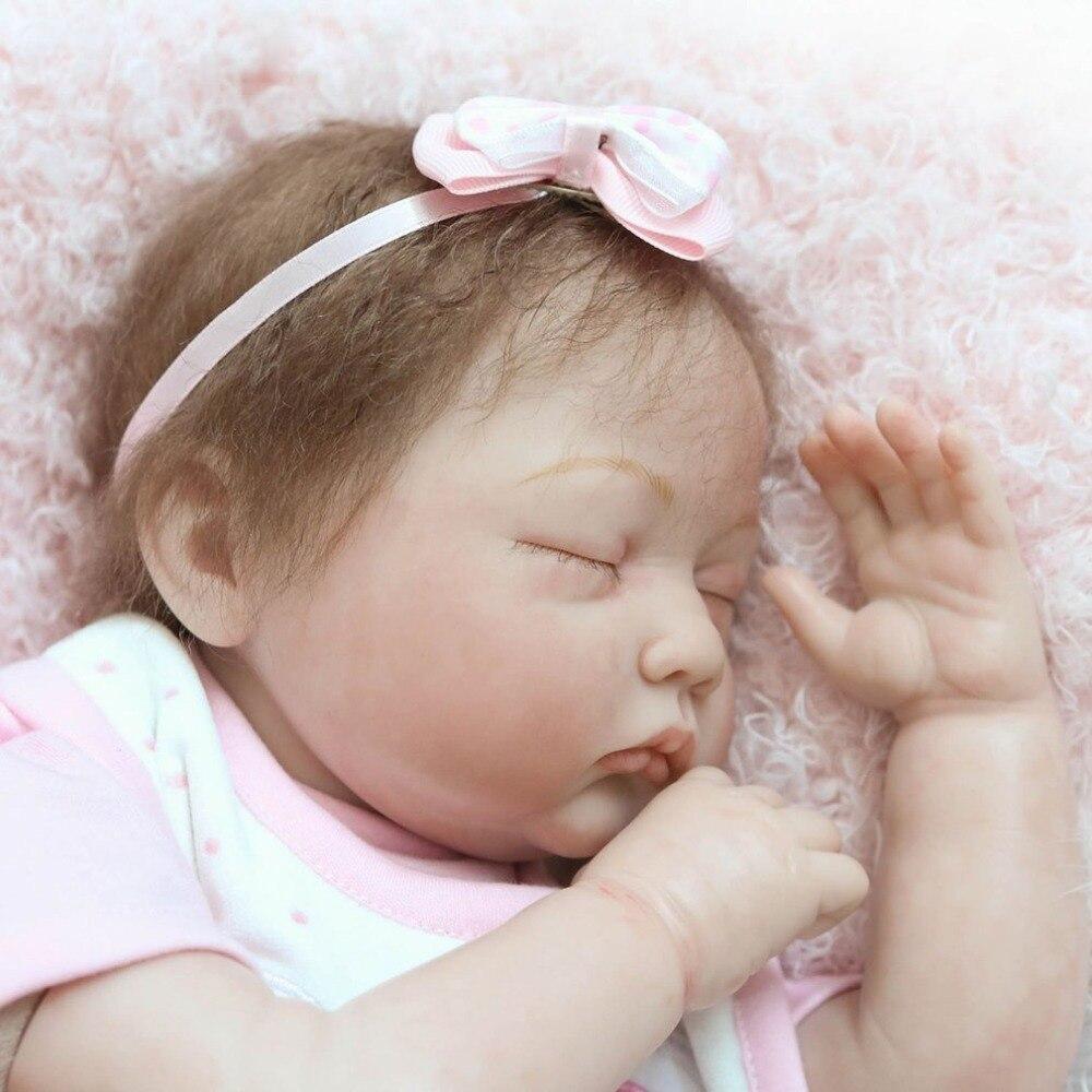 22 дюймов реалистичные Новорожденные Кукла реборн игрушки всего тела мягкого силикона виниловые малышей bebe Reborn Baby Doll безопасные игрушки для