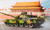 1:35 Китайская народная армия освобождения 99B основной боевой танк армейский бронеавтомобиль собрать модель