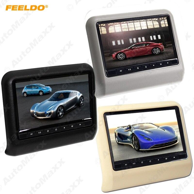 FEELDO 9 Inch (16:9 )Car Headrest Monitors Digital LCD AV 9 HD Monitor Remote Control Black,Beige,Grey #AM3857 цена