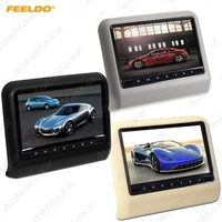 FEELDO 9 Inch (16:9 )Car Headrest Monitors Digital LCD AV 9 HD Monitor Remote Control Black,Beige,Grey #AM3857