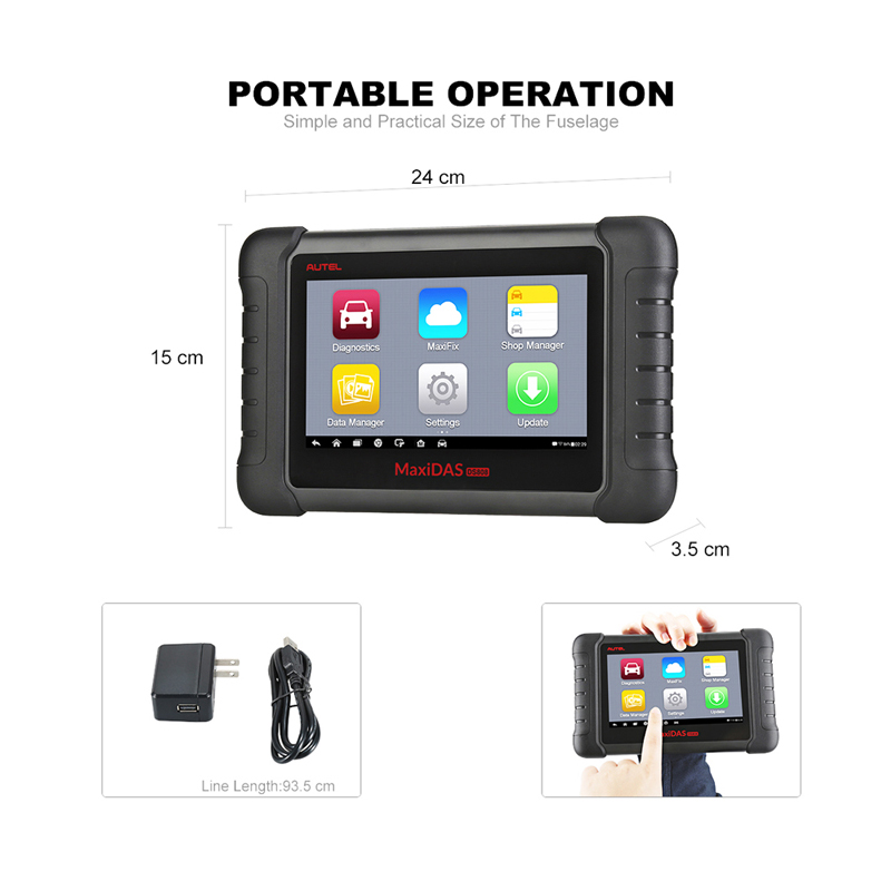 Image 4 - Autel MaxiDAS DS808 Diagnostic Tool DS708 DS808 Full System Car Diagnostic and ECU coding Tool with full OBD OBD2 adapters-in Engine Analyzer from Automobiles & Motorcycles