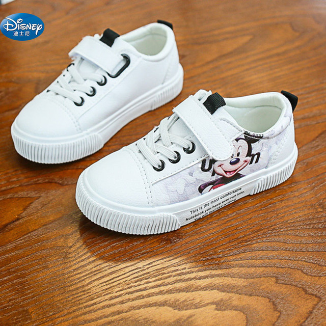 kids red Cartoon Mickey Casual Shoes  Disney girls princess soft pu cute boys sports shoes for child gift Europe size 25-36