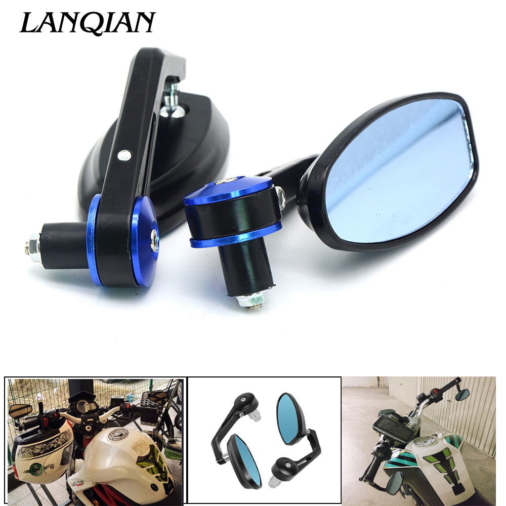 78 22mm Universal Motorcycle Mirror View Side Rear Mirror For Ducati MONSTER 400 620 695 696 796 821 1100 1200