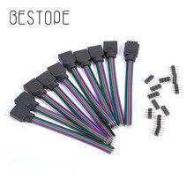 Fil de connecteur de bande avec aiguille   4Pin 3528 RGB 10mm 5050 RGB, bande lumière à fil, contrôleur RGB 10 pièces 20 pièces