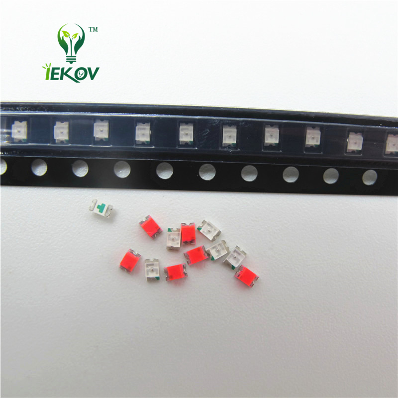 100 Pcs 0805 Smd Orange Amber Led 600-610nm Smt Led Light Diode Water Clear Diy Super Bright Diodes Diodes