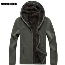 Mountainskin 7XL Winter heren Jassen Dikke Fleece Hooded Hoodies Mannen Sweater Solid Casual Mannelijke Jassen Merk Kleding SA116