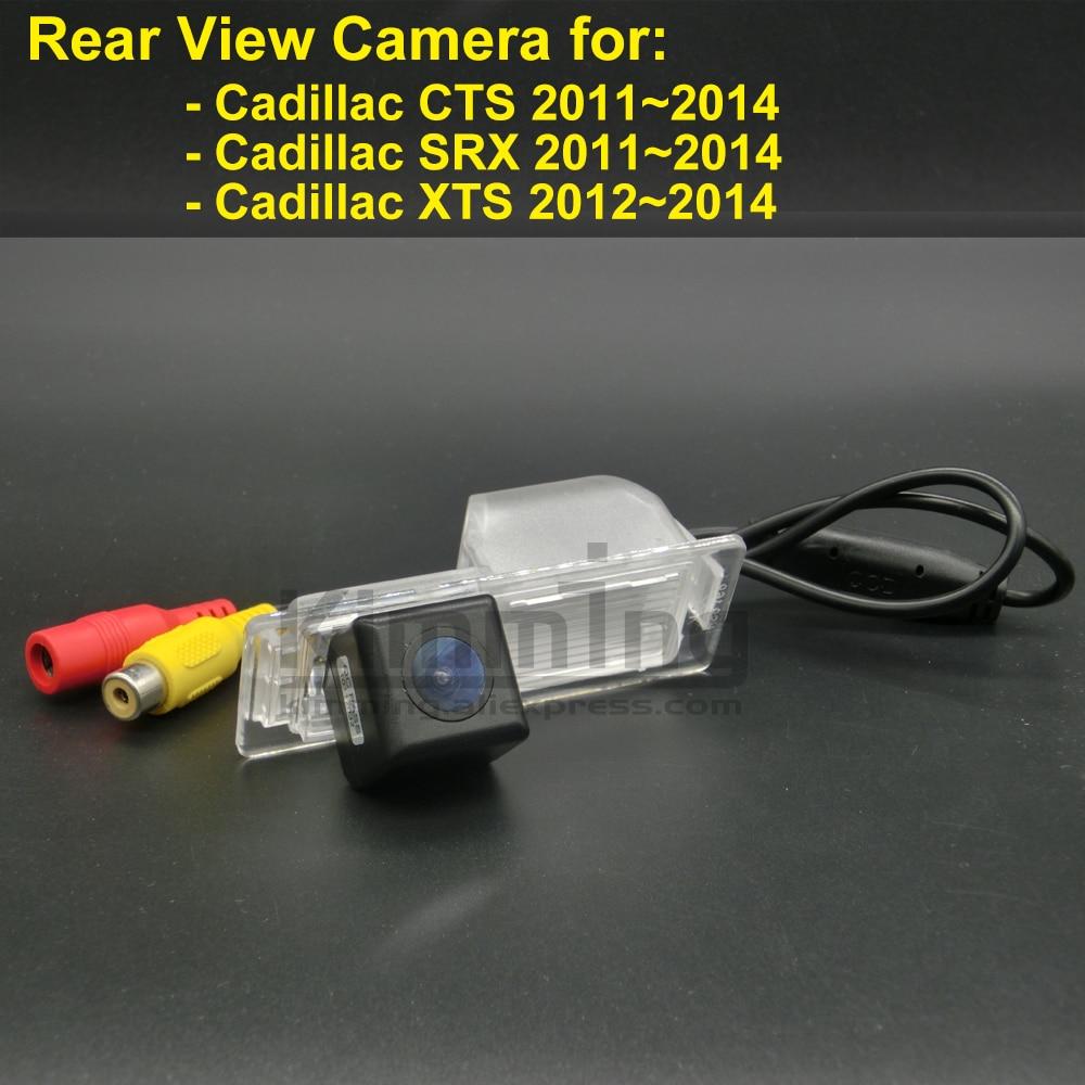 car rear view camera for cadillac cts srx xts 2011 2012 2013 2014 wireless  wired reversing parking backup camera ccd rca hdnv